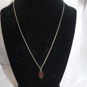 Ladies Pinecone necklace on silver chain